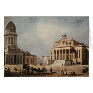 The Royal Theatre and the New Church, 1833 Card