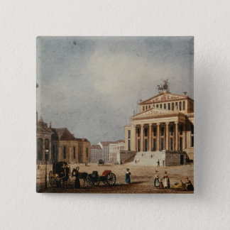 The Royal Theatre and the New Church, 1833 Pinback Button