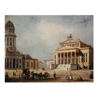 The Royal Theatre and the New Church, 1833 Postcard