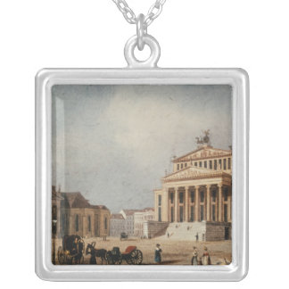 The Royal Theatre and the New Church, 1833 Silver Plated Necklace