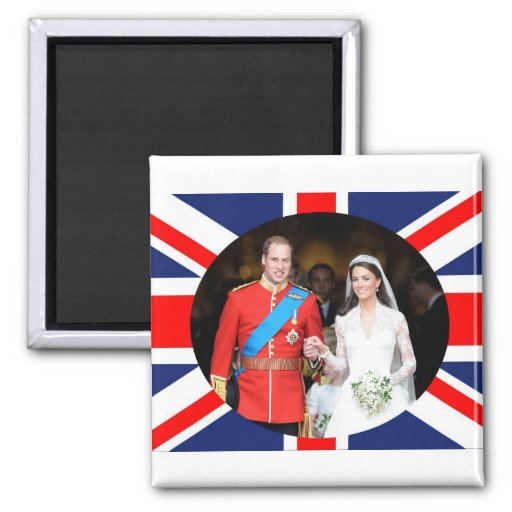 The Royal Wedding 11 2 Inch Square Magnet