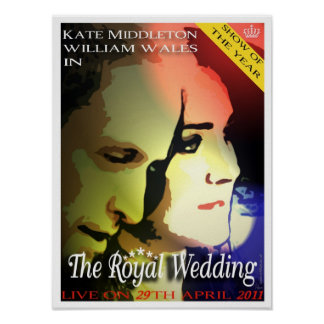The Royal Wedding movie style poster/print Poster