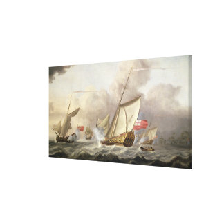 The Royal Yacht 'Mary' Exchanging Salutes Canvas Print