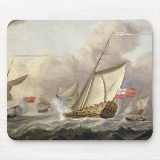 The Royal Yacht 'Mary' Exchanging Salutes Mouse Pad