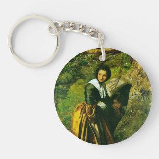The Royalist by John Everett Millais Single-Sided Round Acrylic Keychain