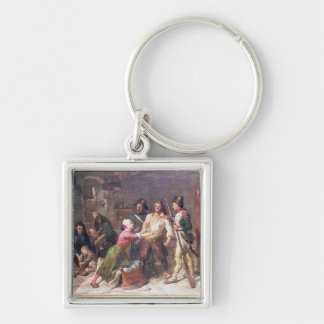 The Royalist, c.1789 Silver-Colored Square Keychain