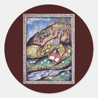 The Rubaiyat of Omar Khayyam Classic Round Sticker