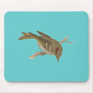 The Ruby-crowned Kinglet(Regulus calendula) Mouse Pad