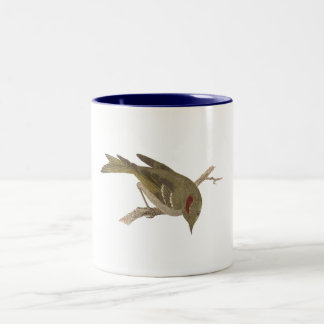 The Ruby-crowned Kinglet(Regulus calendula) Two-Tone Coffee Mug