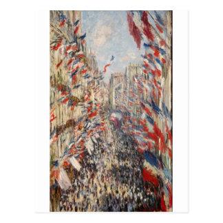 The Rue Montorgueil, 30th of June 1878 (1878) Postcard