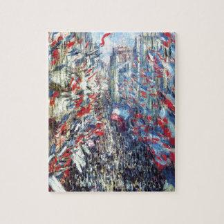 The Rue Montorgueil, Paris by Claude Monet Jigsaw Puzzle