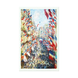 The Rue Montorgueil, Paris, Festival of June Stretched Canvas Print