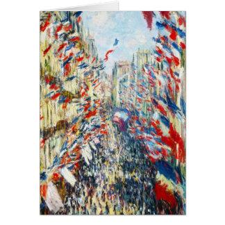 The Rue Montorgueil, Paris, Festival of June Card
