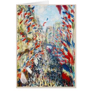The Rue Montorgueil Paris Festival of June Greeting Card