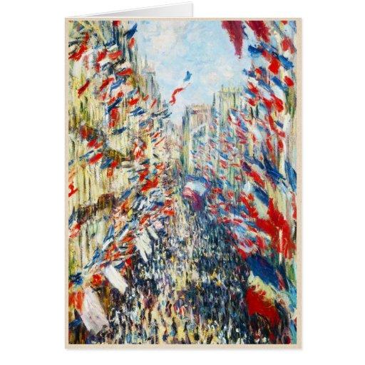 The Rue Montorgueil, Paris, Festival of June Greeting Card