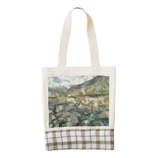 The rugged mountain zazzle HEART tote bag