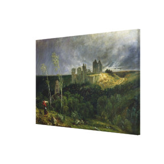 The Ruins of Chateau de Pierrefonds, 1861 Canvas Print