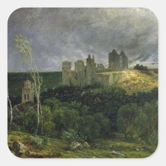 The Ruins of Chateau de Pierrefonds, 1861 Square Sticker