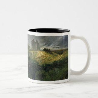 The Ruins of Chateau de Pierrefonds, 1861 Two-Tone Coffee Mug