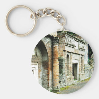 The Ruins of Pompeii - marketplace with temples Key Chain