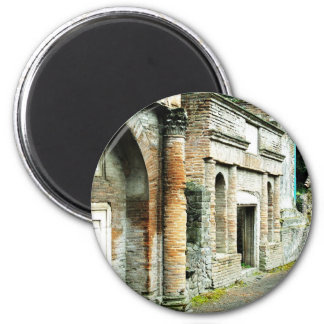 The Ruins of Pompeii - marketplace with temples Magnet