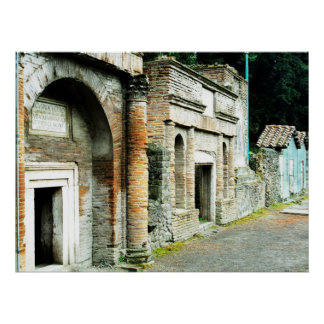 The Ruins of Pompeii - marketplace with temples Print
