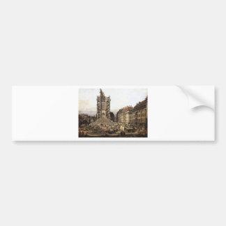 The Ruins of the old Kreuzkirche, Dresden by Berna Bumper Sticker