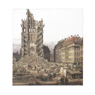 The Ruins of the old Kreuzkirche, Dresden by Berna Scratch Pads