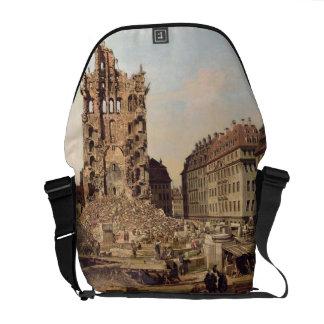 The Ruins of the old Kreuzkirche, Dresden Messenger Bag