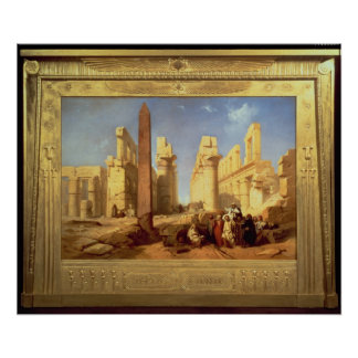 The Ruins of the Palace of Karnak at Thebes Poster