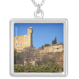 The ruins of the Pope's summer castle in Square Pendant Necklace