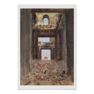 The Ruins of the Tuileries, 1871 Poster