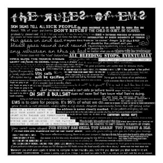 The Rules of EMS Poster