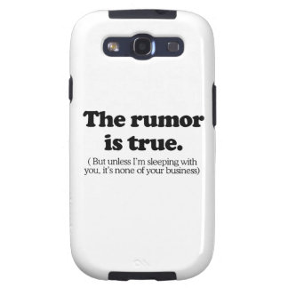 The rumor is true png samsung galaxy s3 case