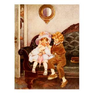 The Runaway Couple Postcard
