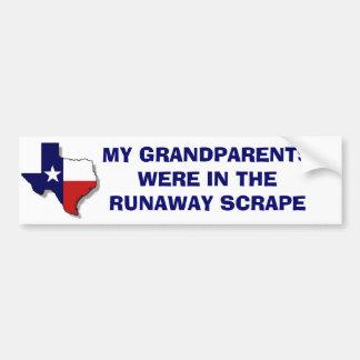 THE RUNAWAY SCRAPE BUMPER STICKER