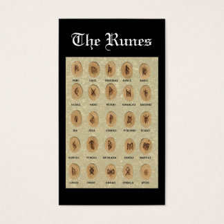 The Runes bookmark Business Card