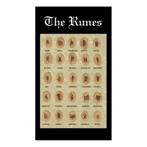 The Runes bookmark Business Card Template