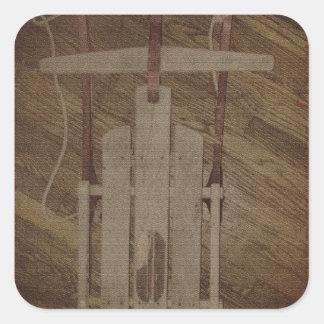 The Runner Sled Tetanus and Gravity Square Sticker
