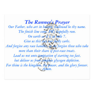 The Runner's Prayer Postcard