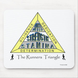 The RUNNER'S TRIANGLE Mouse Pad