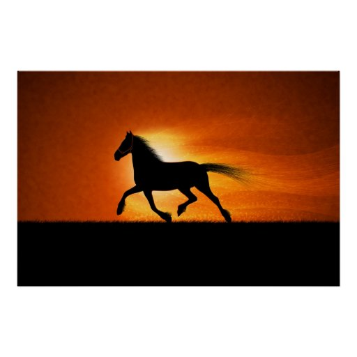 The Running Horse Poster