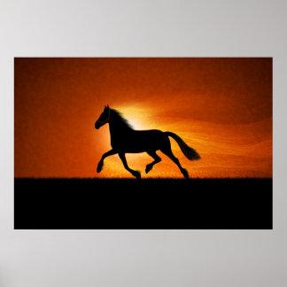 The Running Horse Print