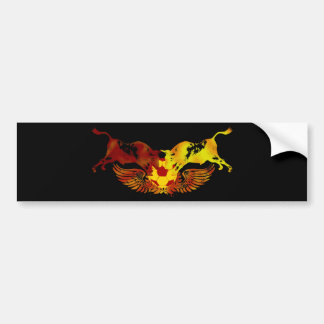 The running of the bulls bumper sticker