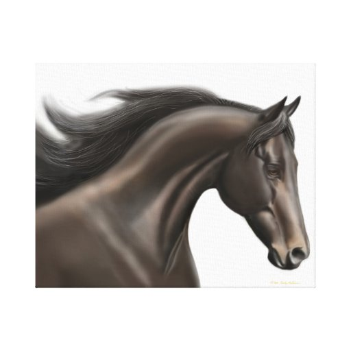 The Running Thoroughbred Horse Wrapped Canvas