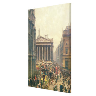 The Rush Hour by the Royal Exchange from Queen Canvas Print