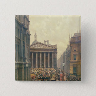 The Rush Hour by the Royal Exchange from Queen Pinback Button