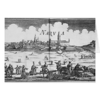 The Russian army besieging Narva in 1700 Card