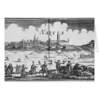 The Russian army besieging Narva in 1700 Card
