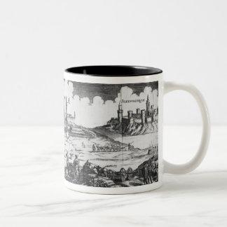 The Russian army besieging Narva in 1700 Two-Tone Coffee Mug